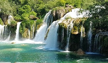 Northern Croatia cycling tour waterfalls