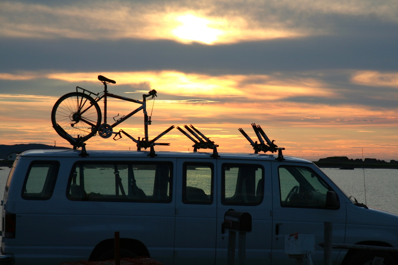 Pedal and Sea Adventures bike tours van sunset