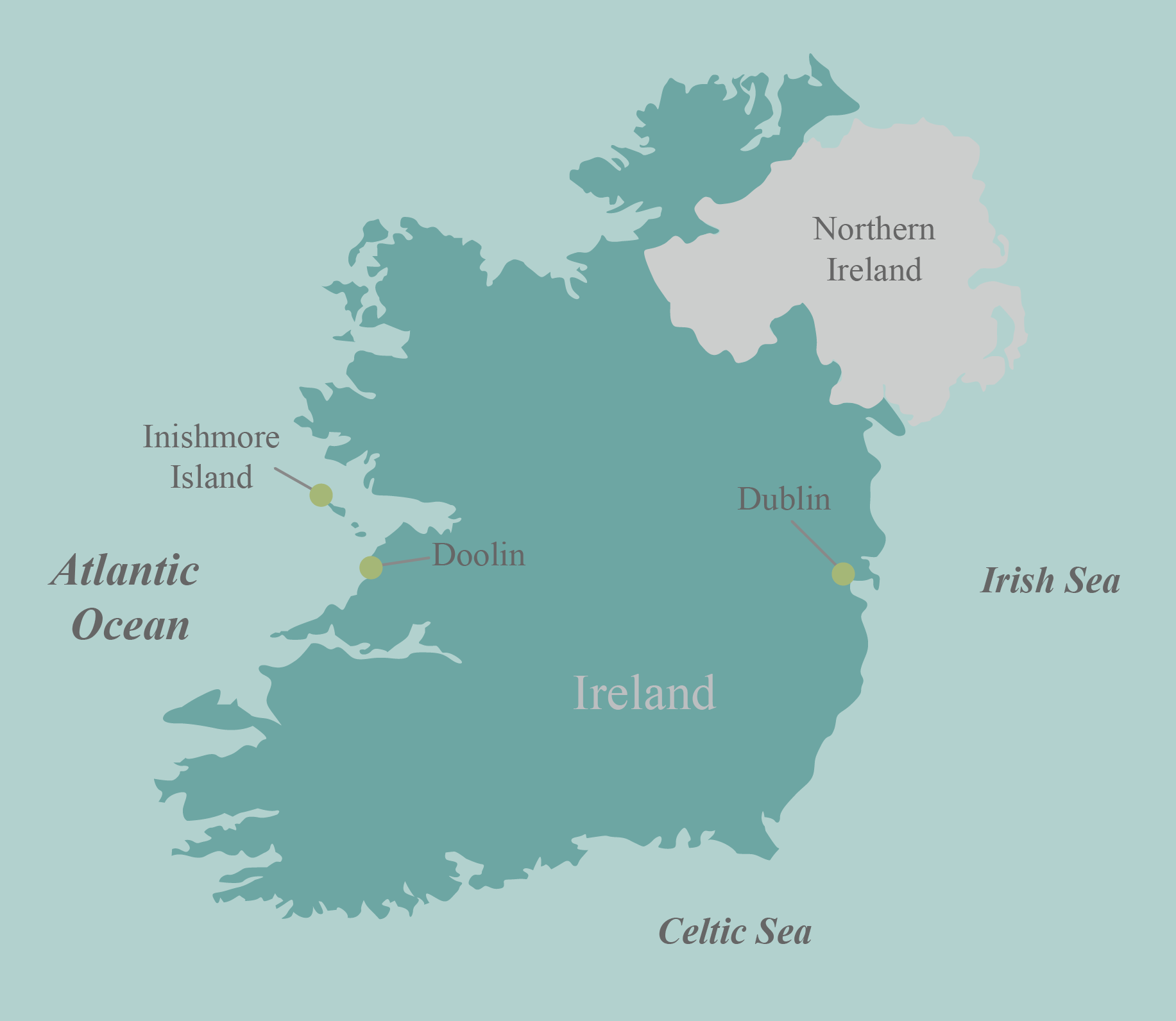 Ireland bike tour map