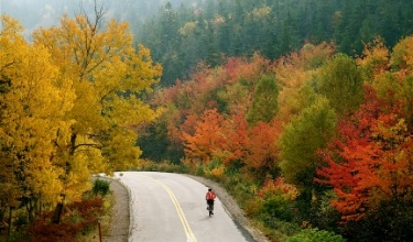 Nova Scotia Cabot Trail Bike Tour Fall colors