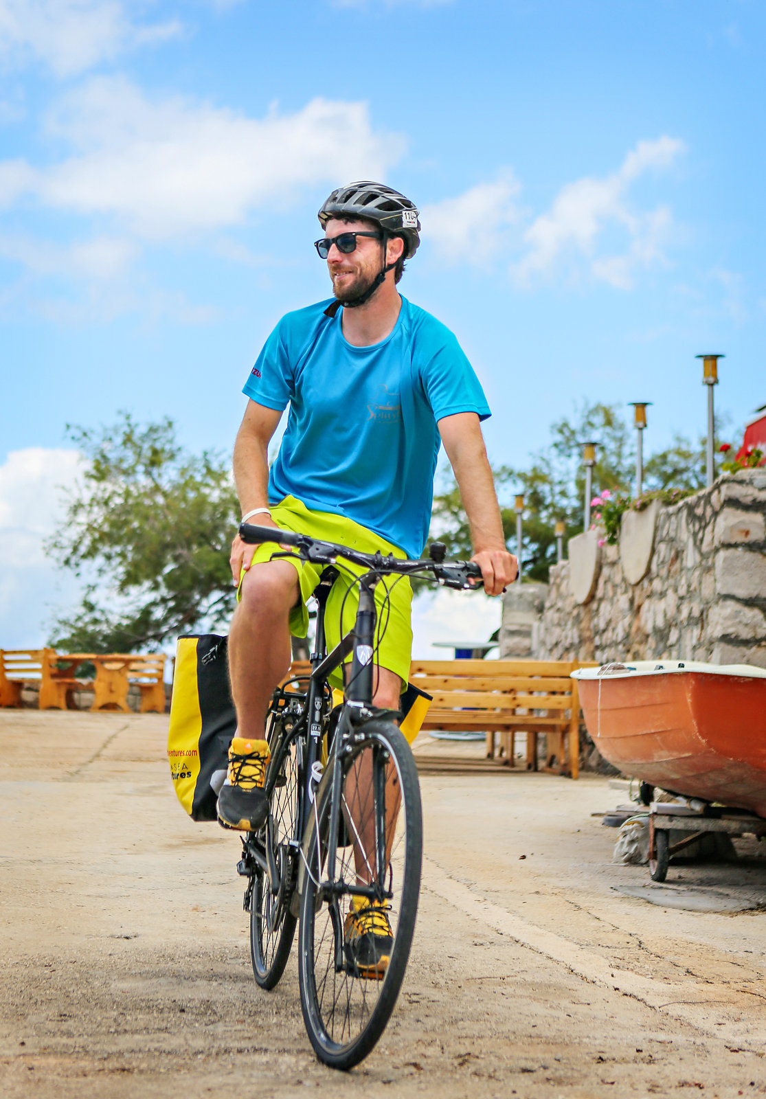 Bicycle and boat tour in Croatia
