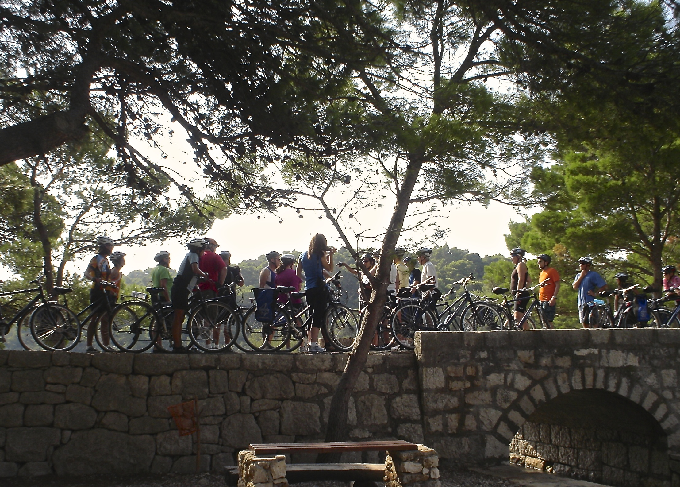 Croatia south dalmatia bike tour cyclists bridge
