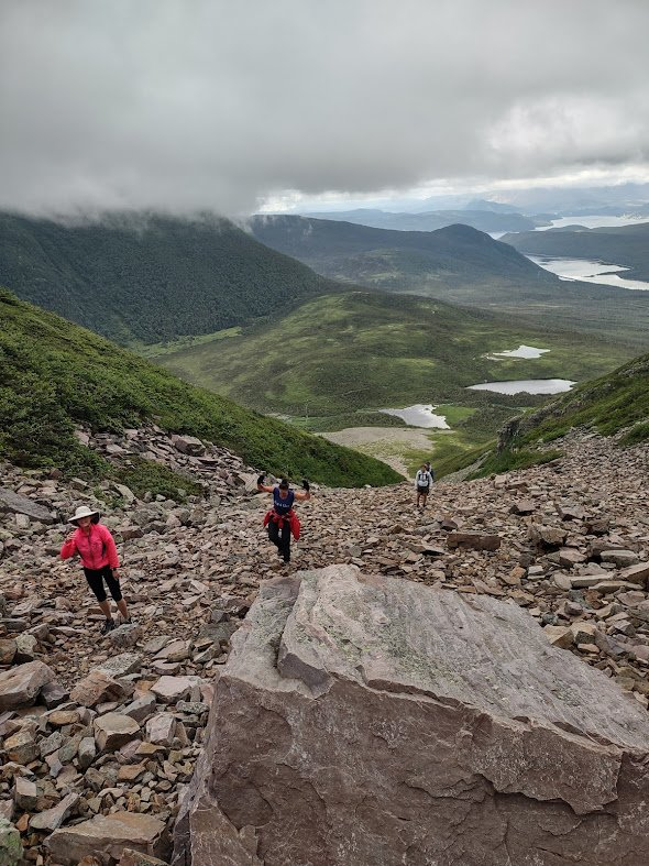 hikers on Gros Morne mountain