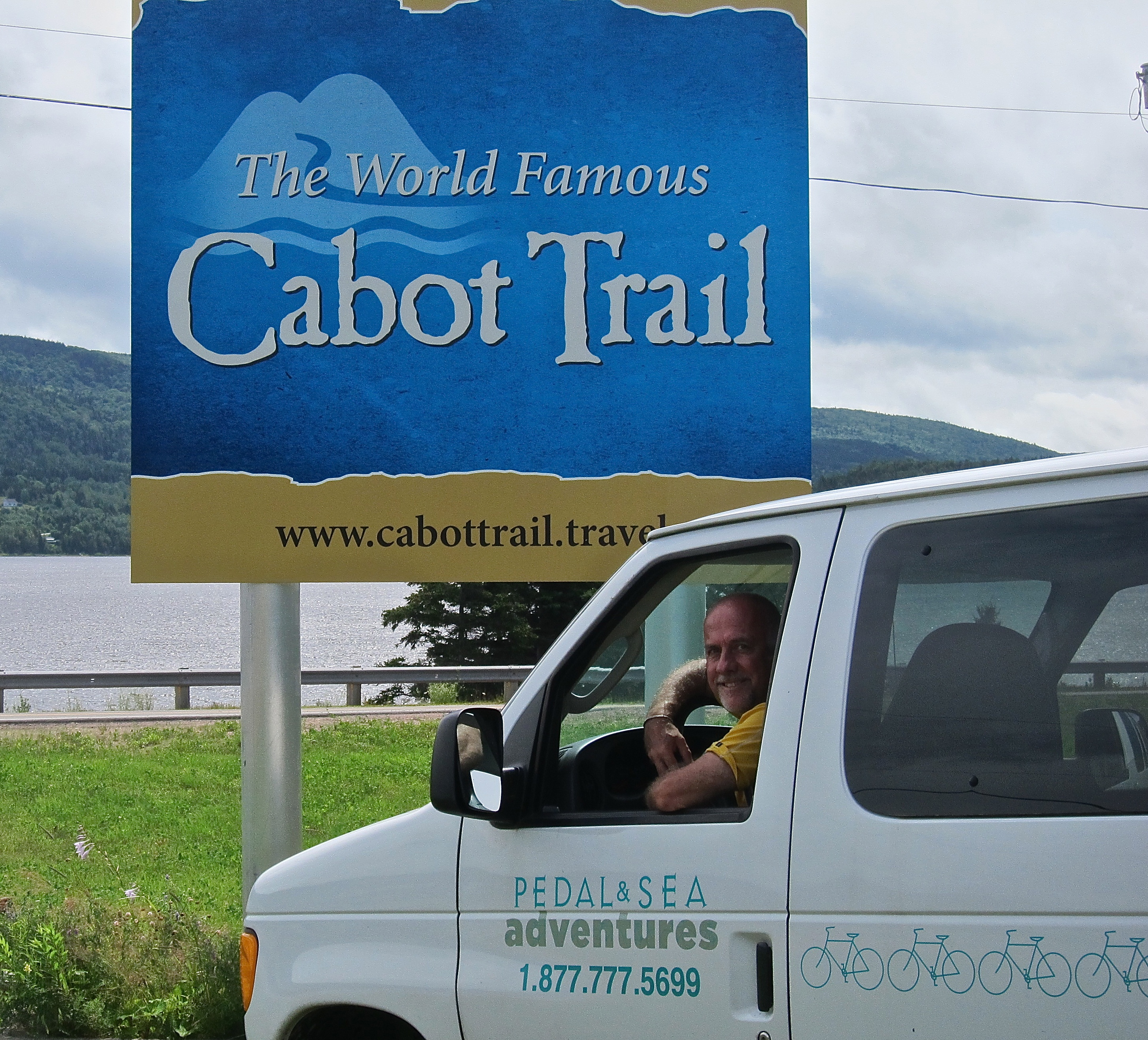 Nova Scotia Cabot Trail bike tour van