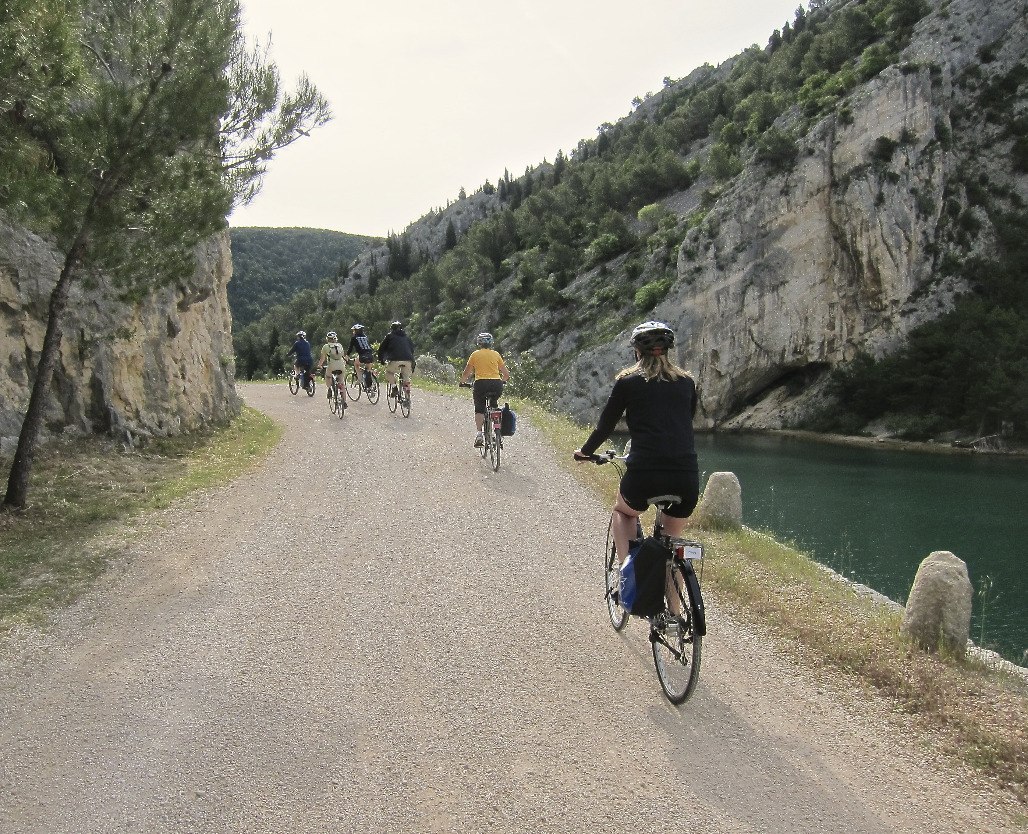 Croatia National Parks bike tour cyclists