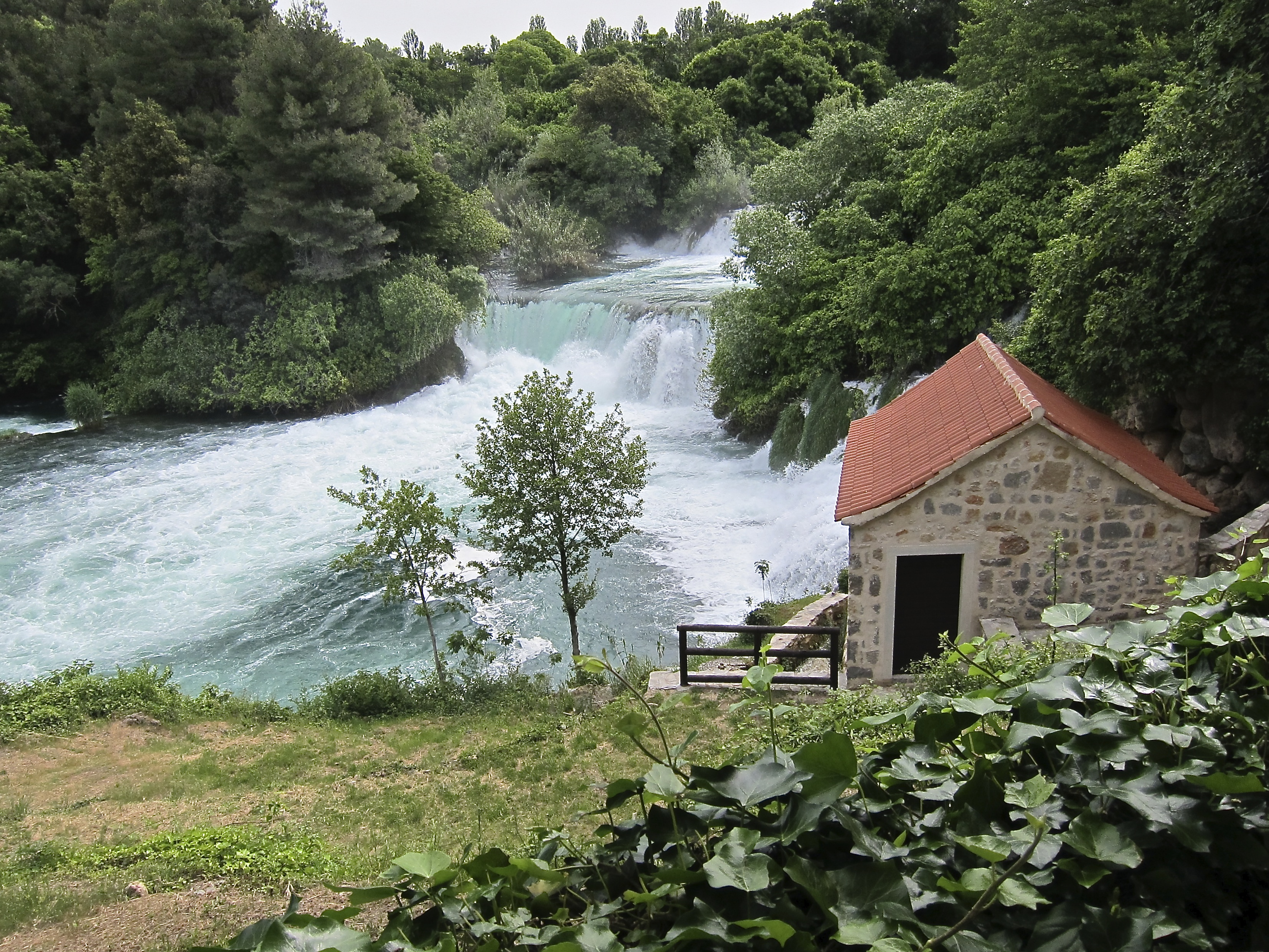 Croatia National Parks bike tour waterfalls