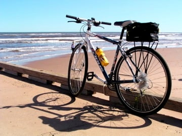 Prince Edward Island bike tour beach