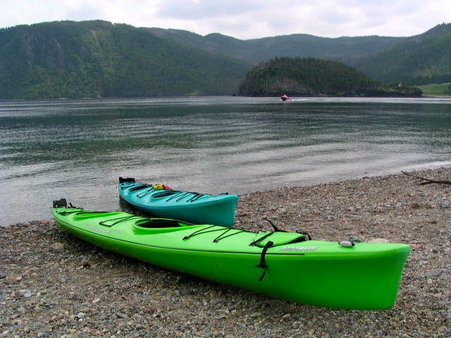 newfoundland bike tour kayaks and beach
