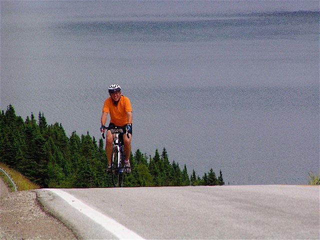 newfoundland bike tour cyclist