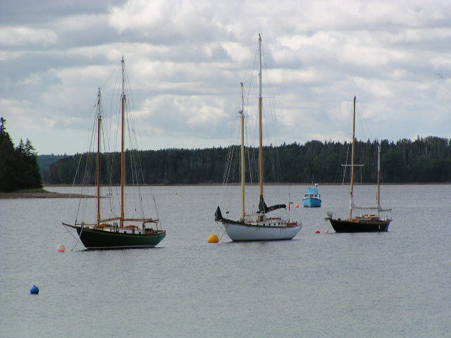 Nova Scotia Evangeline Trail bike tour sailboats