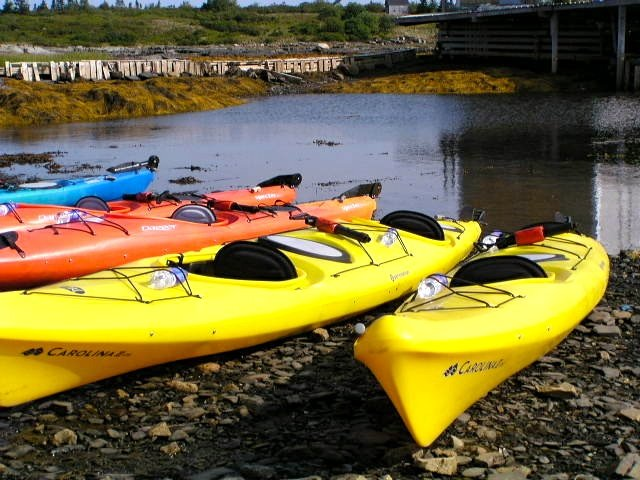 Nova Scotia South Shore bike tour kayaks
