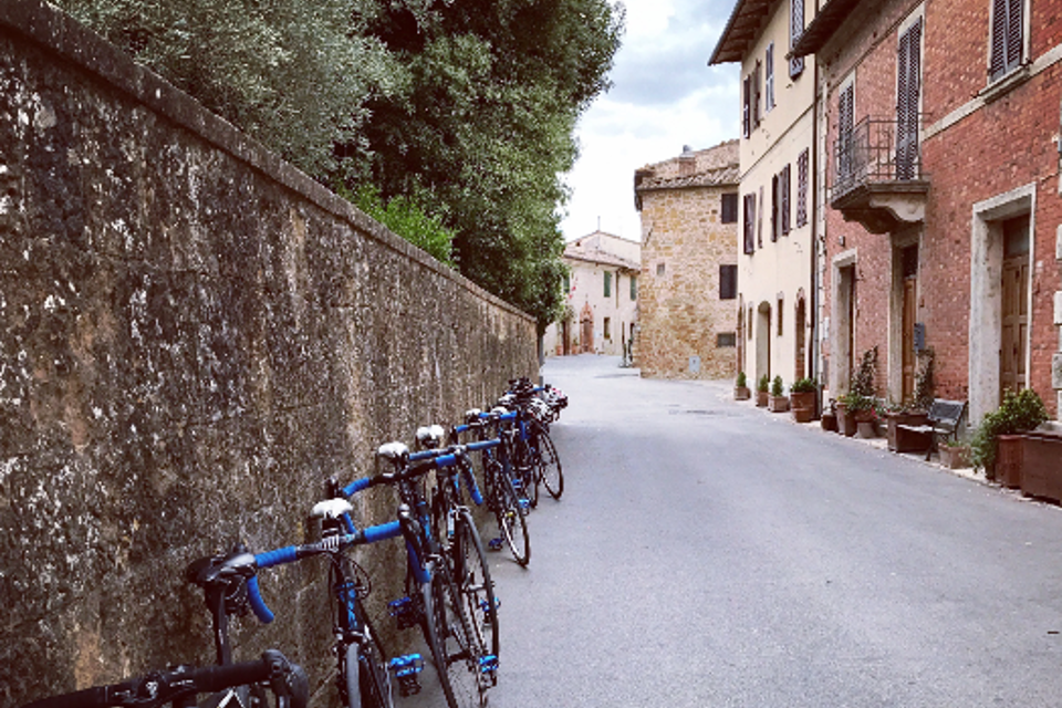 bicycles on tuscan side road