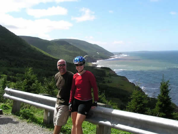 nova scotia cabot trail bike tour ocean view